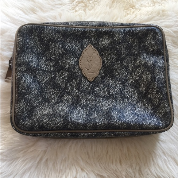 YSL Vintage makeup toiletry bag pouch travel. M 5aa678ead39ca2c92785c330.  Other Bags you may like. Yves Saint Laurent White Satin Clutch ... 38a1dda386721